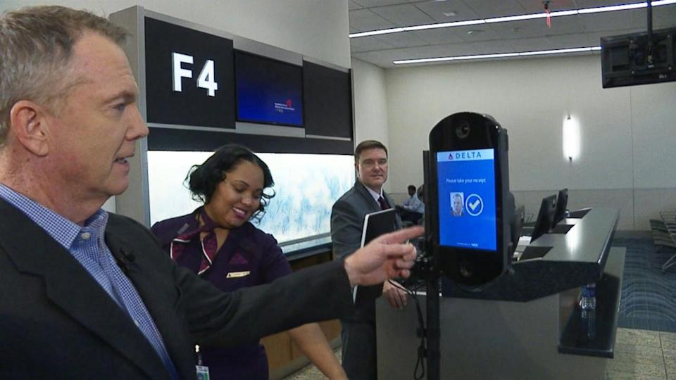 Internationally traveling passengers in Atlanta can use facial recognition technology from curb to gate.