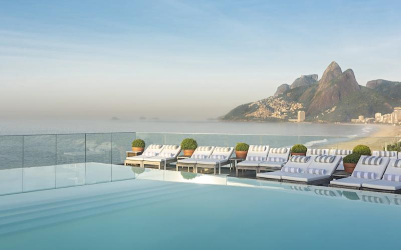 Romance abound across Rio de Janeiro, and the best hotels for loved-up couples take full advantage the stunning landscapes with infinity pools, balcony hammocks and rooftop bars