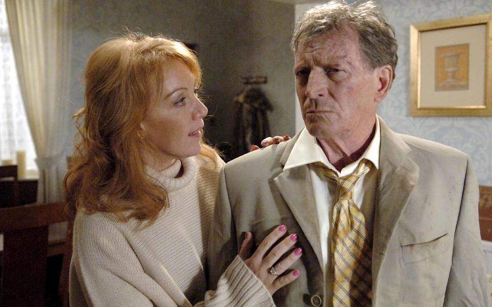 Mike, suffering from Alzheimer's, fails to recognise girlfriend Penny King (Pauline Fleming) in a scene from 2006 - ITV/Shutterstock