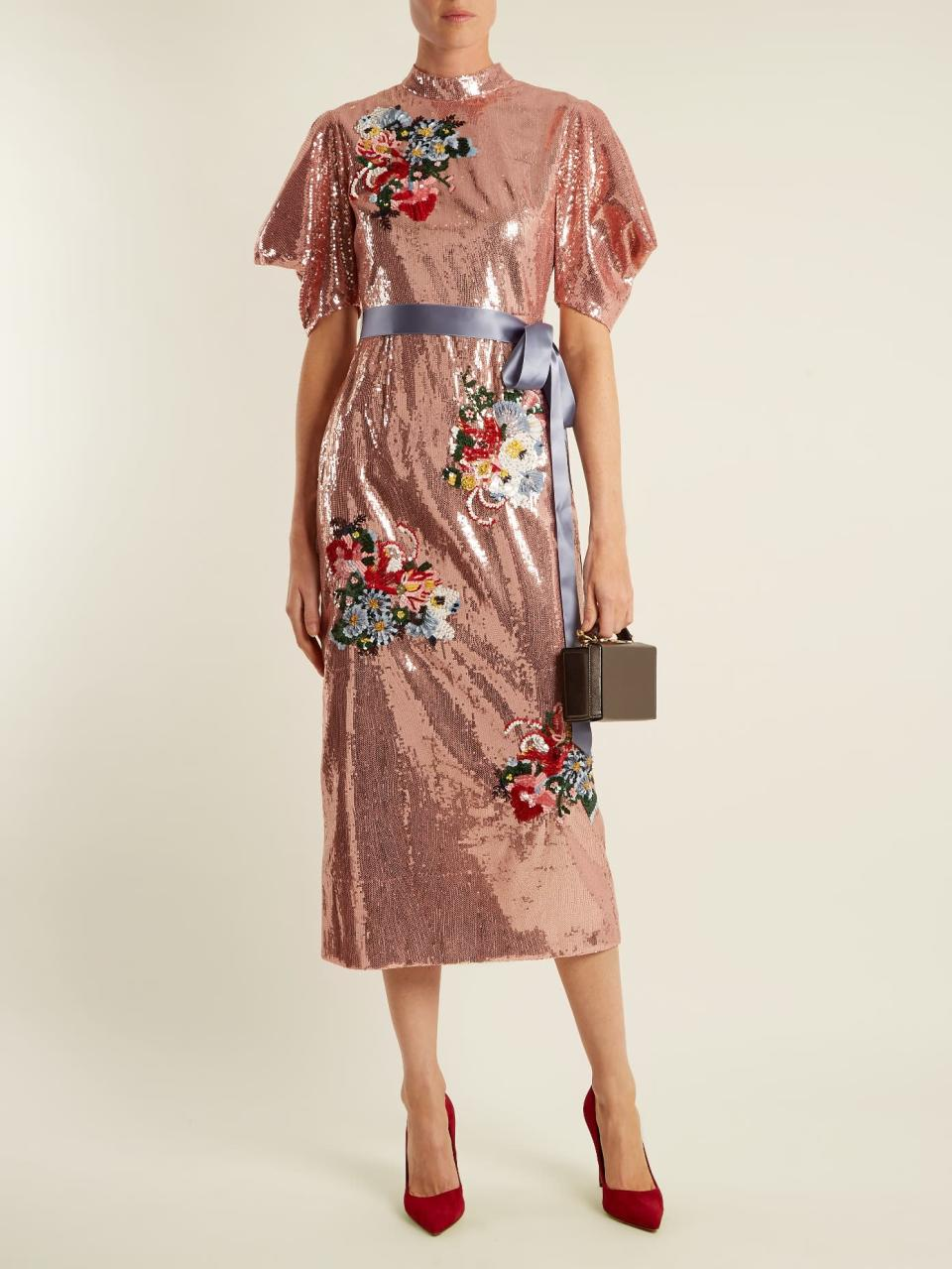 """<p><em>$4,370, Matches Fashion</em></p><p><a rel=""""nofollow noopener"""" href=""""https://www.matchesfashion.com/us/products/Erdem-Emery-floral-embroidered-sequin-dress-1157075"""" target=""""_blank"""" data-ylk=""""slk:Buy Now"""" class=""""link rapid-noclick-resp"""">Buy Now</a><br></p>"""