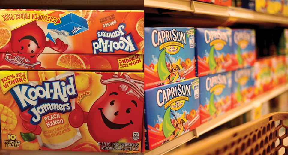 A new study found that many fruit drinks marketed to kids do not contain fruit at all. Several also contain artificial sweeteners. (Photo: Getty Images)