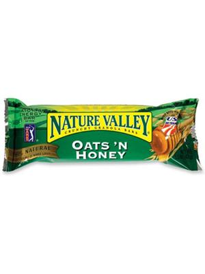 """<div class=""""caption-credit""""> Photo by: courtesy of snackaholics.com</div><div class=""""caption-title""""></div><b>THE WINNERS <br> <br> Nature Valley granola bar, Oats 'n Honey (1.5 oz)</b> <br> <b>The Good:</b> You get two (pretty tasty) whole-grain bars for fewer than 200 calories. <br> <b>The Bad:</b> Twelve grams of sugar is hefty for a little snack. <br> <b>The Bottom Line:</b> It's no apple, but it's relatively guilt-free."""