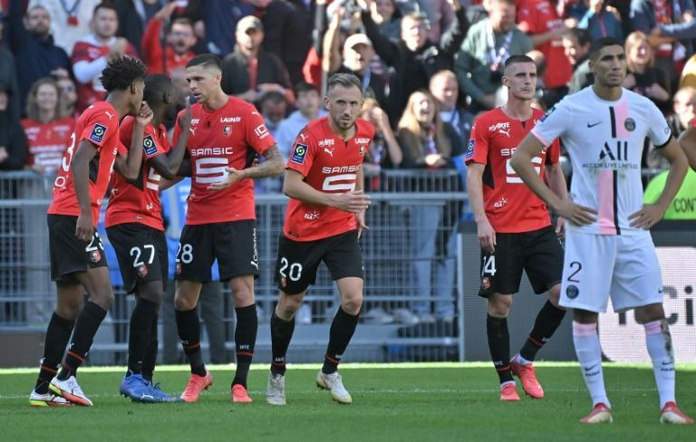 Rennes snapped PSG's run of eight straight wins to start the Ligue 1 season (AFP/LOIC VENANCE)