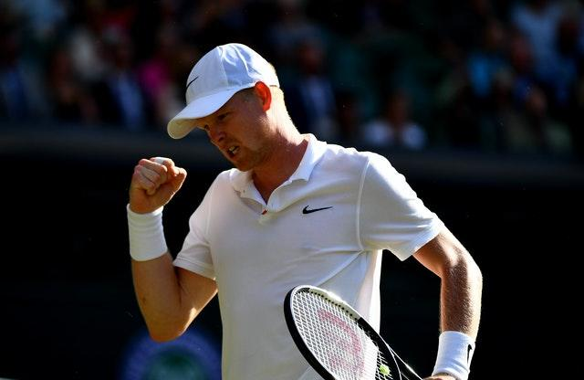 Kyle Edmund was able to claim one victory from his two matches at the Battle of the Brits on Saturday