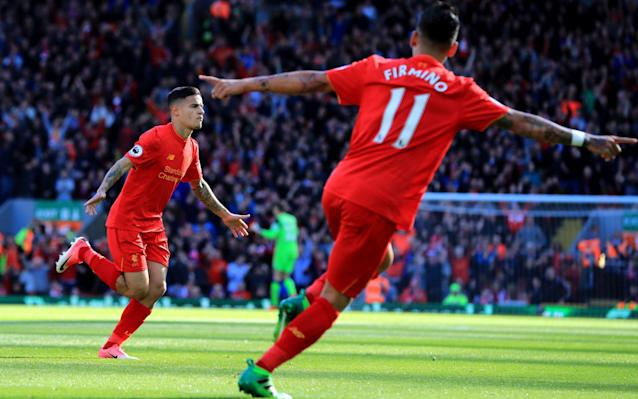 <span>Philippe Coutinho scored a wonderful first-half goal to put Liverpool ahead</span> <span>Credit: PA </span>