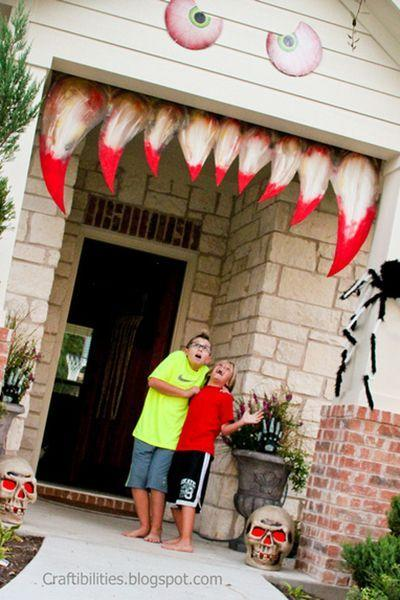 "<p>Go all out this Halloween by transforming your entryway or porch into this scary monster </p><p><strong>Get the tutorial at <a href=""http://www.craftibilities.com/2013/10/making-your-house-come-alive-halloween.html"" rel=""nofollow noopener"" target=""_blank"" data-ylk=""slk:Craftibilities"" class=""link rapid-noclick-resp"">Craftibilities</a>.</strong></p><p><a class=""link rapid-noclick-resp"" href=""https://www.amazon.com/Krylon-52108-Paint-Enamel-Banner/dp/B0009X8M30/?tag=syn-yahoo-20&ascsubtag=%5Bartid%7C10050.g.22350299%5Bsrc%7Cyahoo-us"" rel=""nofollow noopener"" target=""_blank"" data-ylk=""slk:SHOP RED SPRAY PAINT"">SHOP RED SPRAY PAINT</a><br></p>"