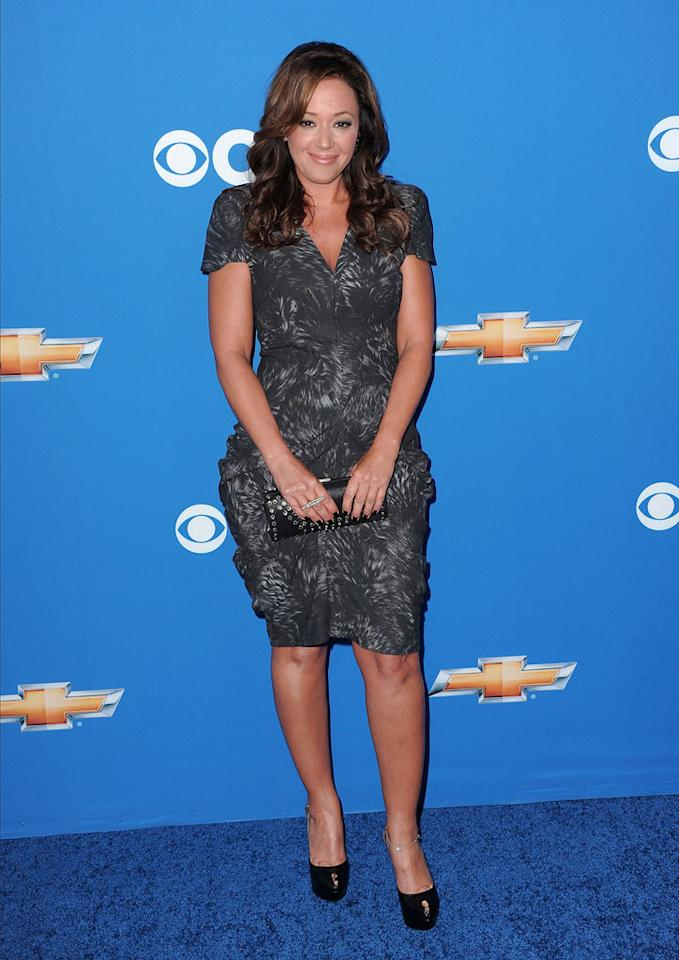 "Leah Remini of ""The Talk"" arrives at the CBS Fall Season Premiere party at The Colony on September 16, 2010, in Los Angeles."