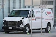Minassian drove a whilte rental van at high speeds along two kilometres of roads and sidewalks, indiscriminately targeting passers-by