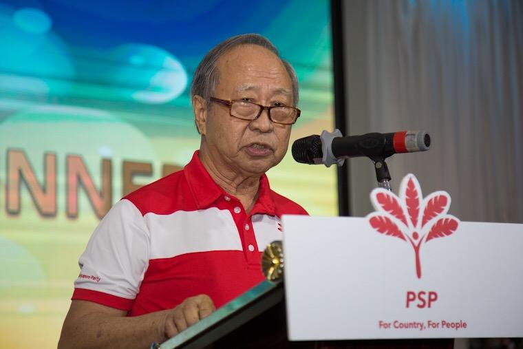 Dr Tan Cheng Bock opening the PSP's Chinese New Year Party 2020 (Photo by Dhany Osman/Yahoo News Singapore)