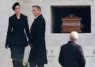 <p>Daniel Craig and Monica Bellucci on the set of Spectre in Rome, Italy.</p>