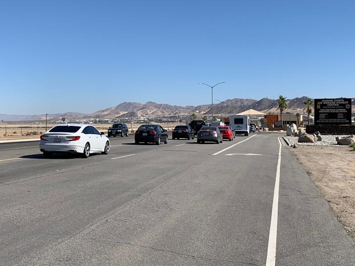 The Marine Corps Air Ground Combat Center was reopened after the confrontation was resolved.