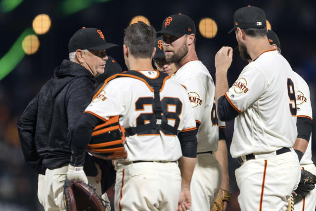 After blowing a save Monday night against the Miami Marlins, San Francisco Giants pitcher Hunter Strickland punched a door and fractured his hand.