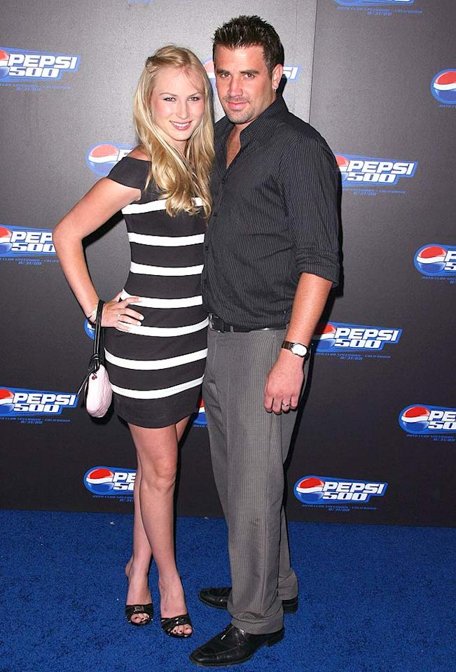 "Another ""Hills"" couple - Jason Wahler and Katja Decker-Sadowski - parlay their 15 minutes of fame into a party invite. Jordan Strauss/<a href=""http://www.wireimage.com"" target=""new"">WireImage.com</a> - August 27, 2008"