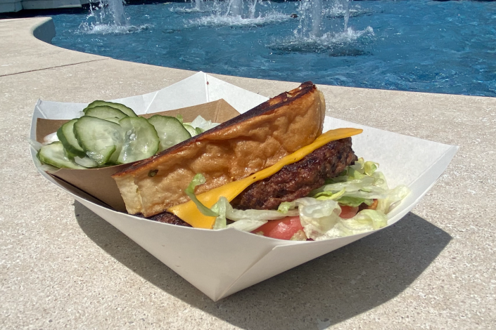 For a quick meal within Disney's Epcot, we'd order this smokehouse burger again. (Terri Peters)