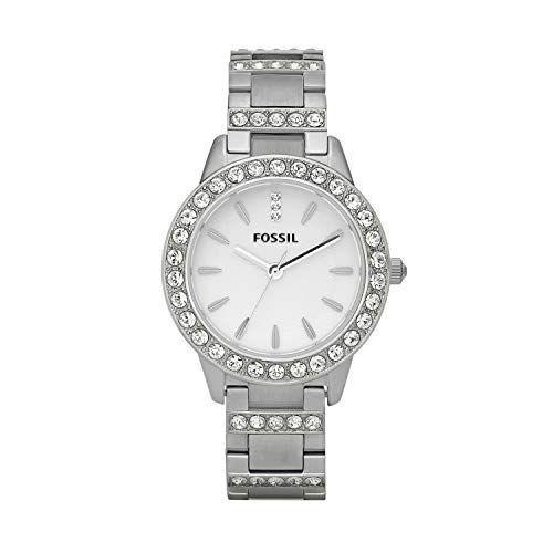 """<p><strong>Fossil</strong></p><p>amazon.com</p><p><strong>$52.50</strong></p><p><a href=""""https://www.amazon.com/dp/B002QF7LZE?tag=syn-yahoo-20&ascsubtag=%5Bartid%7C10050.g.36354512%5Bsrc%7Cyahoo-us"""" rel=""""nofollow noopener"""" target=""""_blank"""" data-ylk=""""slk:Shop Now"""" class=""""link rapid-noclick-resp"""">Shop Now</a></p><p>This dressy watch will add just the right touch of bling to any outfit. One enthusiastic reviewer says, """"This watch is simply STUNNING!!! I fall in love with it all over again every time I look down and see the sunlight dance off of one of the crystals. It's SO shiny and sparkly!"""" </p>"""