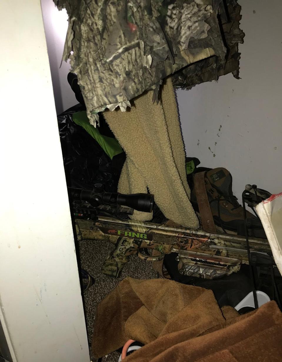 The closet where police said the girl was hiding. (Calaveras County Sheriff's Office)