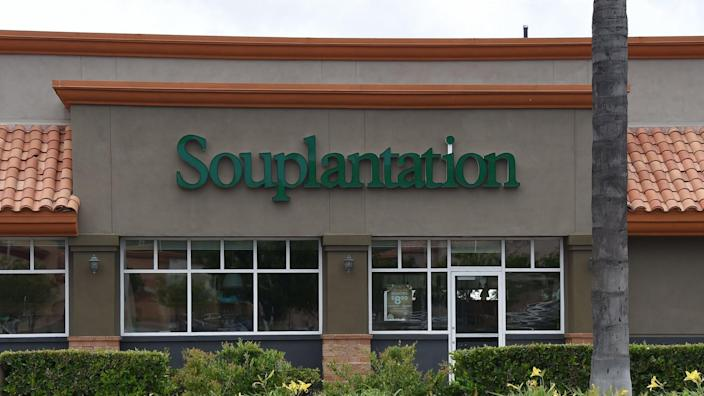 Mandatory Credit: Photo by AFF-USA/Shutterstock (10646143b)SouplantationBusiness storefronts and signage in light of COVID-19 restrictions, Northridge, USA - 13 May 2020.