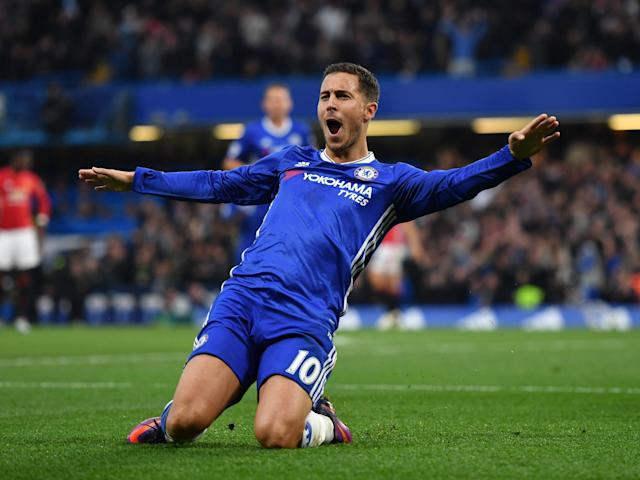 Hazard has been in fine form this season, scoring 11 goals: Getty