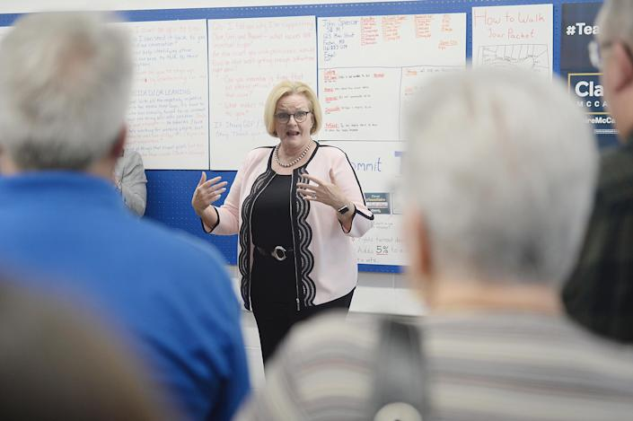 Sen. Claire McCaskill, D-Mo., visits a campaign office. (Photo: Michael Thomas/Getty Images)