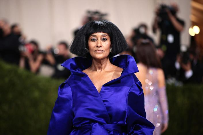 <p>Tracee Ellis Ross always serves an iconic hair look, and this sculptural, graphic bob is no exception. It's the perfect canvas to frame her gorgeous face and neckline .</p>