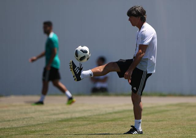Soccer Football - World Cup - Germany Training - Sochi, Russia - June 21, 2018 Germany's coach Joachim Low during training. REUTERS/Hannah McKay