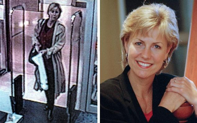 Jill Dando, the TV presenter who won over audiences with her down to earth charm, seen on CCTV the morning she was murdered - Colin Davey/Getty Images/Hulton Archive