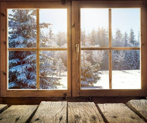 "<span class=""caption"">Glass windows like these could be replaced with wood.</span> <span class=""attribution""><a class=""link rapid-noclick-resp"" href=""https://www.shutterstock.com/image-photo/view-through-window-cottage-into-snowcovered-1567864882"" rel=""nofollow noopener"" target=""_blank"" data-ylk=""slk:Shutterstock/Visions-AD"">Shutterstock/Visions-AD</a></span>"