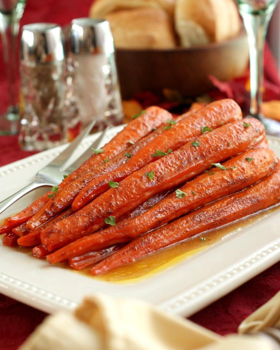 "<p>One of POPSUGAR's most famous recipes, this dish features fresh carrots that are smothered in cinnamon butter and then baked in the oven until they are perfectly glazed and tender. With the stunning presentation and sweet cinnamon butter sauce, these carrots are sure to steal the show.</p> <p><strong>Get the recipe</strong>: <a href=""https://www.popsugar.com/food/Cinnamon-Butter-Baked-Carrot-Recipe-42576234"" class=""link rapid-noclick-resp"" rel=""nofollow noopener"" target=""_blank"" data-ylk=""slk:cinnamon butter baked carrots"">cinnamon butter baked carrots</a></p>"