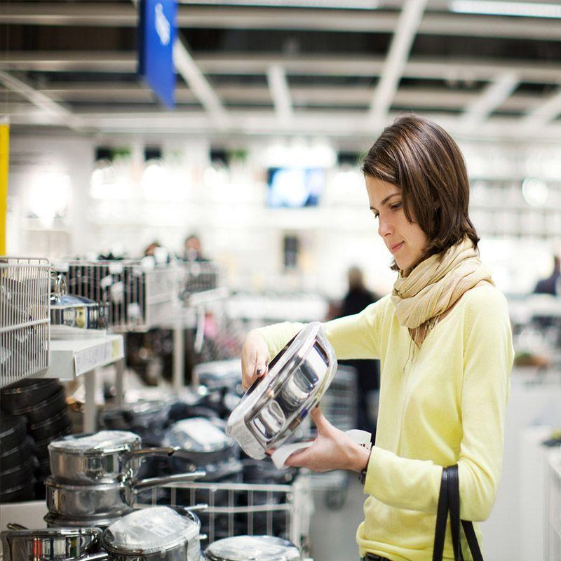 """<p>According to MoneyTalksNews, you are <a href=""""https://www.moneytalksnews.com/20-things-you-should-never-buy-at-the-grocery-store/"""" rel=""""nofollow noopener"""" target=""""_blank"""" data-ylk=""""slk:better off shopping for kitchenware at TJ Maxx or Marshalls"""" class=""""link rapid-noclick-resp"""">better off shopping for kitchenware at TJ Maxx or Marshalls</a> if you want to get a good deal. Grocery stores usually <a href=""""https://www.cheatsheet.com/money-career/8-things-never-buy-supermarket.html/"""" rel=""""nofollow noopener"""" target=""""_blank"""" data-ylk=""""slk:offer less options of questionable quality for a higher price"""" class=""""link rapid-noclick-resp"""">offer less options of questionable quality for a higher price</a>, according to Cheat Sheet, so cross kitchenware off your list next time you make a grocery store trip.</p>"""