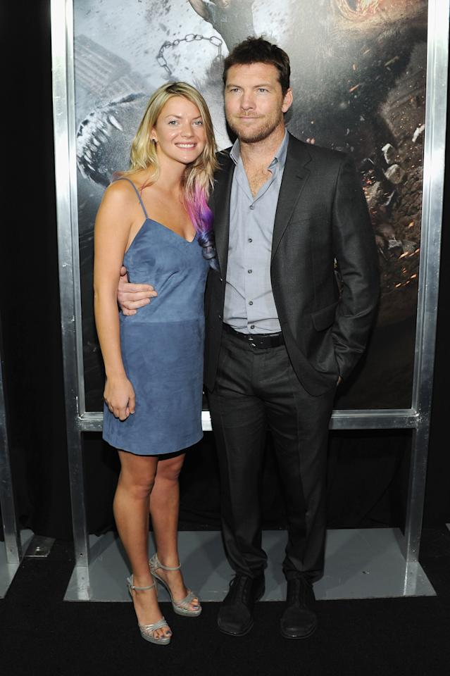 """NEW YORK, NY - MARCH 26:  Crystal Humphries and actor Sam Worthington attend the """"Wrath of the Titans"""" premiere at the AMC Lincoln Square Theater on March 26, 2012 in New York City.  (Photo by Larry Busacca/Getty Images)"""