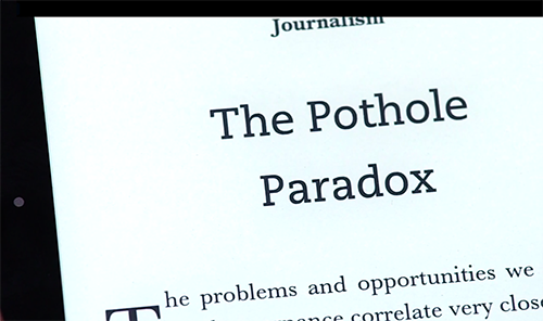 Close-up of text on a Kindle Voyage