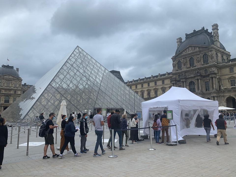 COVID-19 has cut down the crowds typically seen at tourist meccas like the Louvre in Paris this summer.