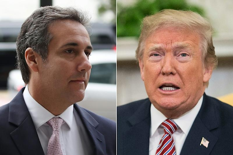 President Donald Trump, right, has had a tremendous falling out with his longtime lawyer Michael Cohen