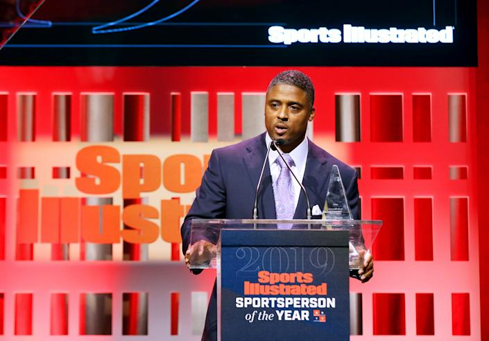 NEW YORK, NEW YORK - DECEMBER 09: Warrick Dunn attends the Sports Illustrated Sportsperson Of The Year 2019 at The Ziegfeld Ballroom on December 09, 2019 in New York City. (Photo by Bennett Raglin/Getty Images for Sports Illustrated Sportsperson of the Year 2019)