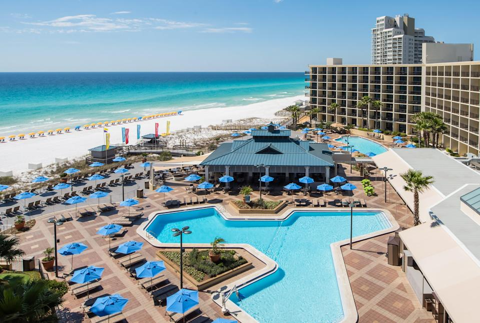 """A-14 day stay as part of the """"Home at HIlton"""" at HIlton Sandestin on the Florida Panhandle is 30% cheaper than the published nightly rate ($130), and a one-month package averages about $90 a night."""