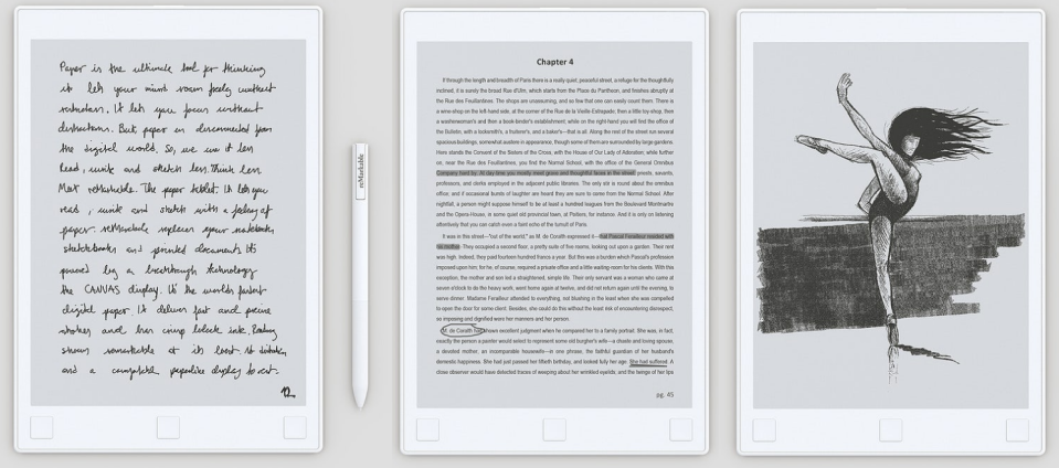 The ReMarkable is like a Kindle that you can write or draw on.