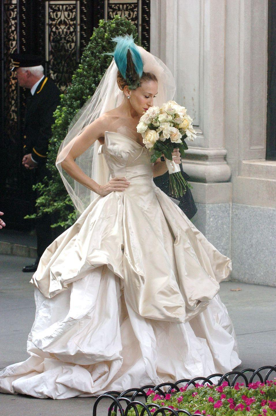 <p>Has anyone recovered from the Vivienne Westwood wedding dress Carrie Bradshaw wore in the 2008 <em>Sex and the City</em> movie? Obviously, the dress caused, er, complications for her and Big, but TBH, I'd choose this dress over Big any day.</p>