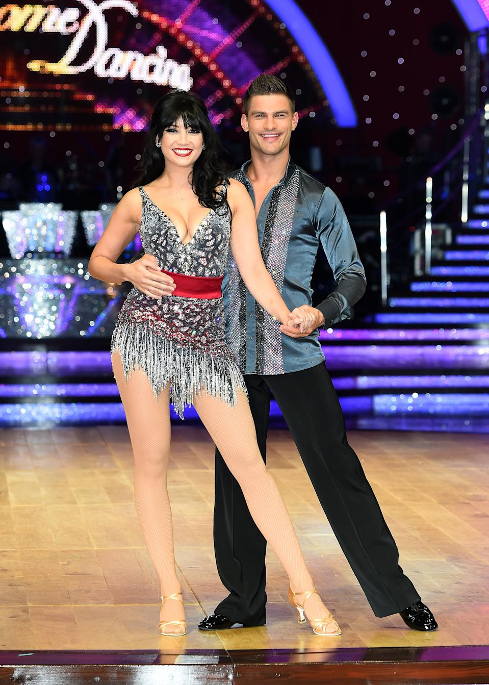 BIRMINGHAM, ENGLAND - JANUARY 19:  Daisy Lowe and Aljaz Skorjanec attend the Strictly Come Dancing Live Tour Photocall on January 19, 2017 in Birmingham, England.  (Photo by Eamonn M. McCormack/Getty Images)