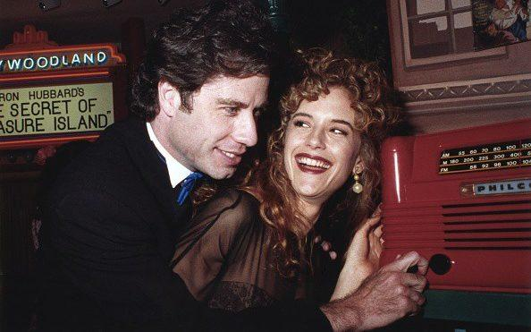 With John Travolta in 1991 at the opening of the Church of Scientology Museum in Los Angeles - Joan Adlen/Getty Images