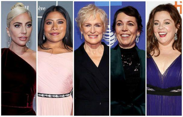 PHOTO: Best actress Oscar nominees for the 91st annual Academy Awards, from left,  Lady Gaga, Yalitza Aparicio, Glenn Close, Olivia Colman and Melissa McCarthy. (Reuters)