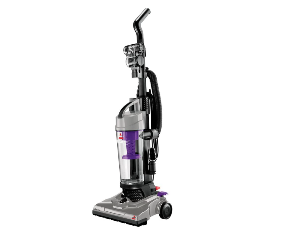 The Bissell AeroSwift Compact Upright Vacuum is on sale through Amazon Canada for only $80.