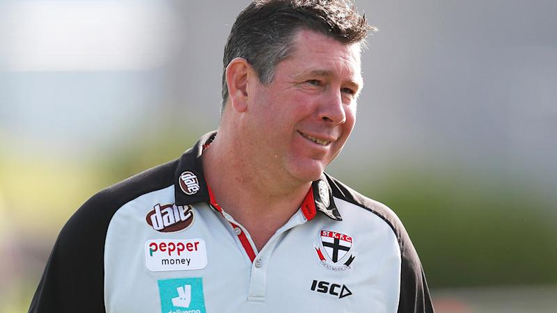 Brett Ratten, pictured here during a Sti Kilda training session in February.