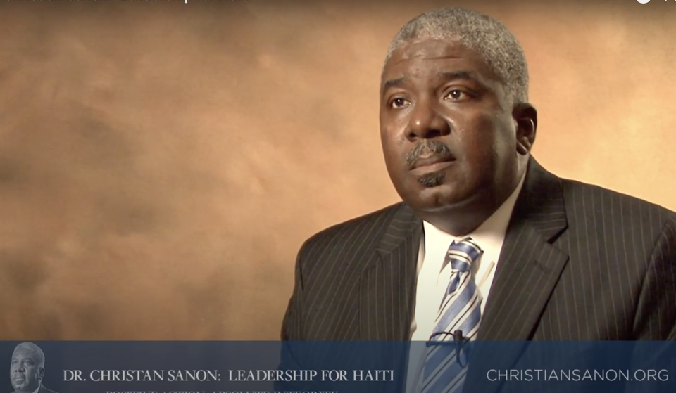 Christian Sanon appears in a YouTube video.