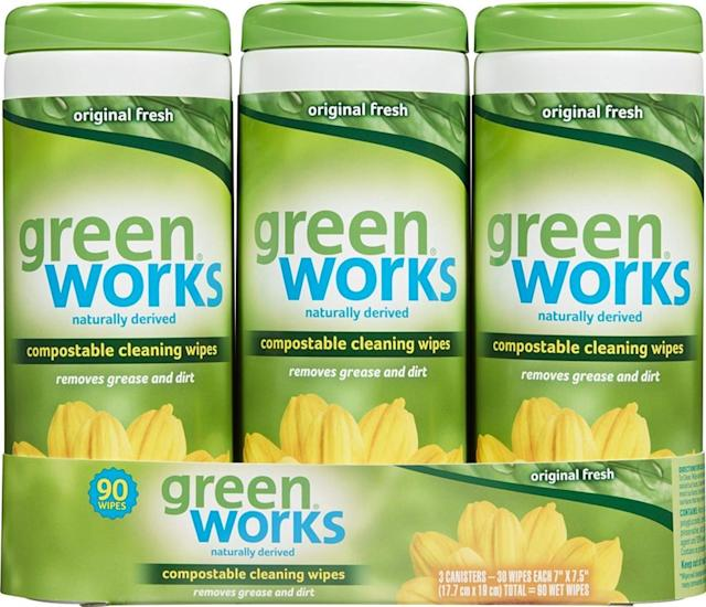 Greenworks Best Compostable Cleaning Wipes