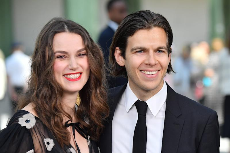 PARIS, FRANCE - MAY 03: Keira Knightley and James Righton attend the Chanel Cruise Collection 2020 : Photocall At Grand Palais on May 03, 2019 in Paris, France. (Photo by Stephane Cardinale - Corbis/Corbis via Getty Images)