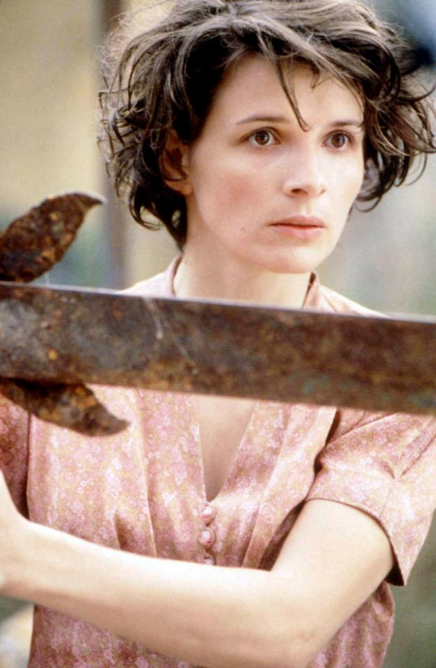 As a nurse in Africa during the waning days of World War II, Binoche gets naked twice. In one scene, she showers outdoors. In another scene, she mounts her lover during a tryst.