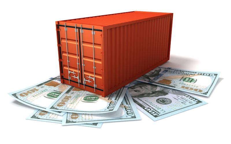 Cargo Container and US Dollars