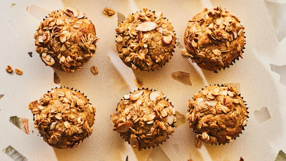 """<a href=""""https://www.bonappetit.com/recipe/gluten-free-apple-and-oat-muffins?mbid=synd_yahoo_rss"""" rel=""""nofollow noopener"""" target=""""_blank"""" data-ylk=""""slk:See recipe."""" class=""""link rapid-noclick-resp"""">See recipe.</a>"""