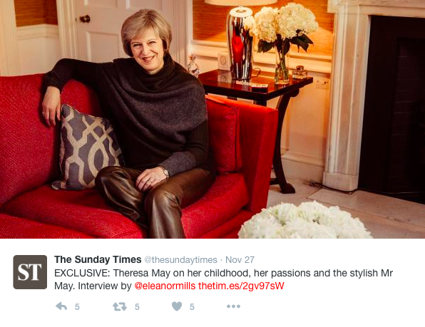 Is all this talk about leather trousers taking away from the politics? [Photo: Twitter/Sundaytimes]