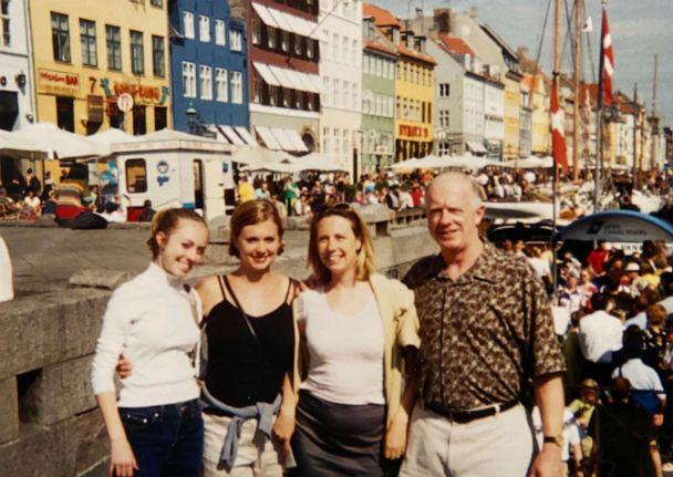 PHOTO: Donald Adair poses with his daughter Abby Reinhard and other family members during a trip to Copenhagen in an undated family photo. (Courtesy Abby Reinhard)